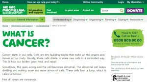 Macmillan cancer info page - what is cancer