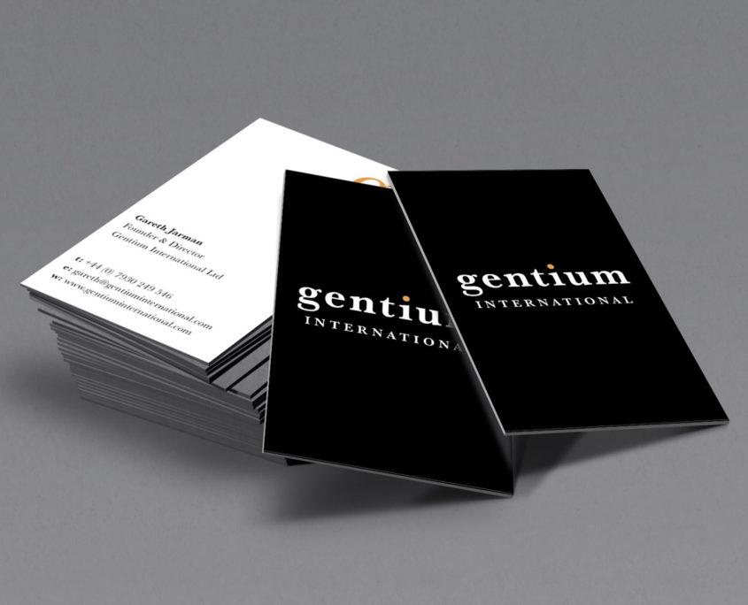 Gentium business cards