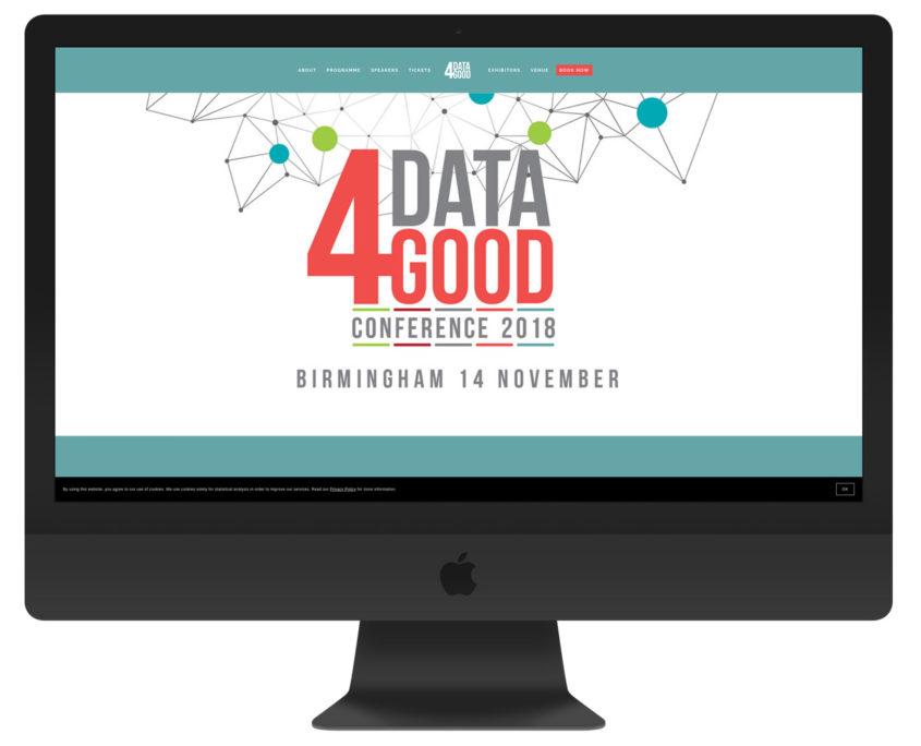 Data4Good website viewed on an iMac